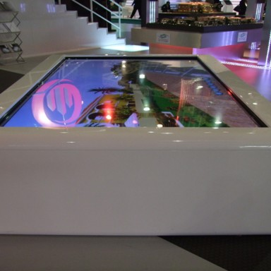 cityscape biggest multitouch table